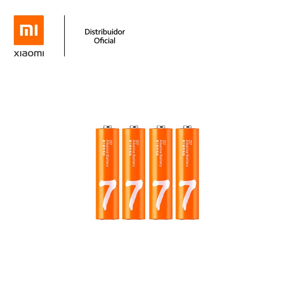 Kit Com 4 Pilhas Alcalinas AAA ZI7 Xiaomi, Longa Duração