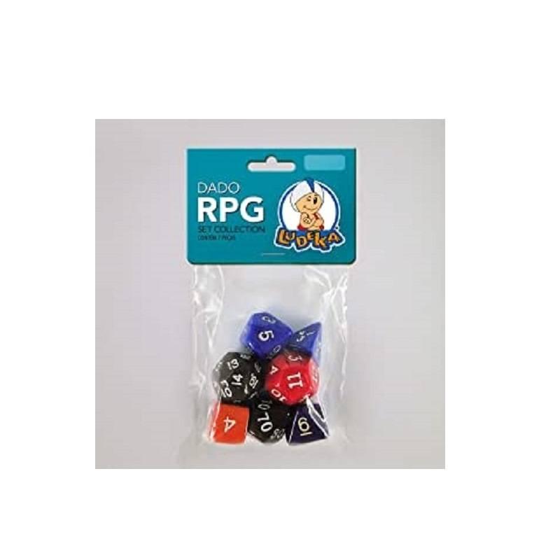 Kit Dado RPG - C/7 Unidades - Ludens Spirit