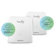 Kit Roteador Twibi Giga Wi-Fi 5 Mesh Intelbras