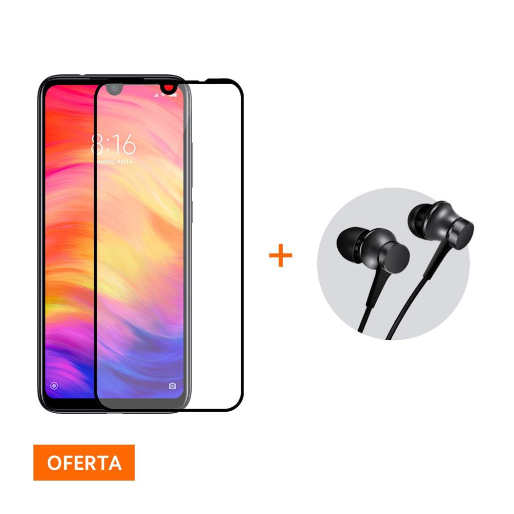 Kit Smartphone Xiaomi Redmi Note 7 32GB + Película + Fone de ouvido com fio