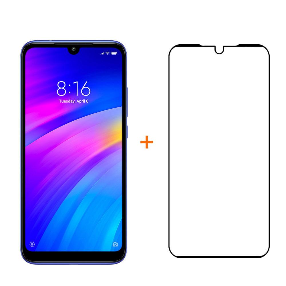 Kit Smartphone XM Redmi 7 32GB Preto + Película
