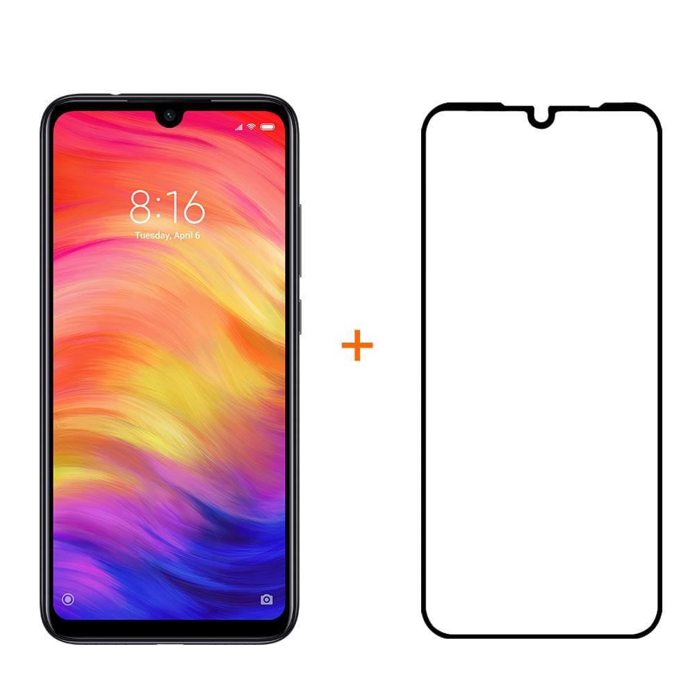 Kit Smartphone XM Redmi Note 7 128GB Preto + Película