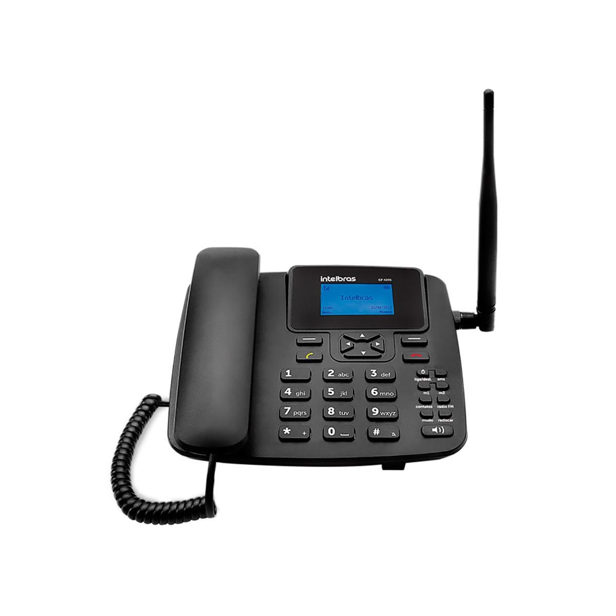 Kit Telefone Celular Fixo Intelbras CFA 4212