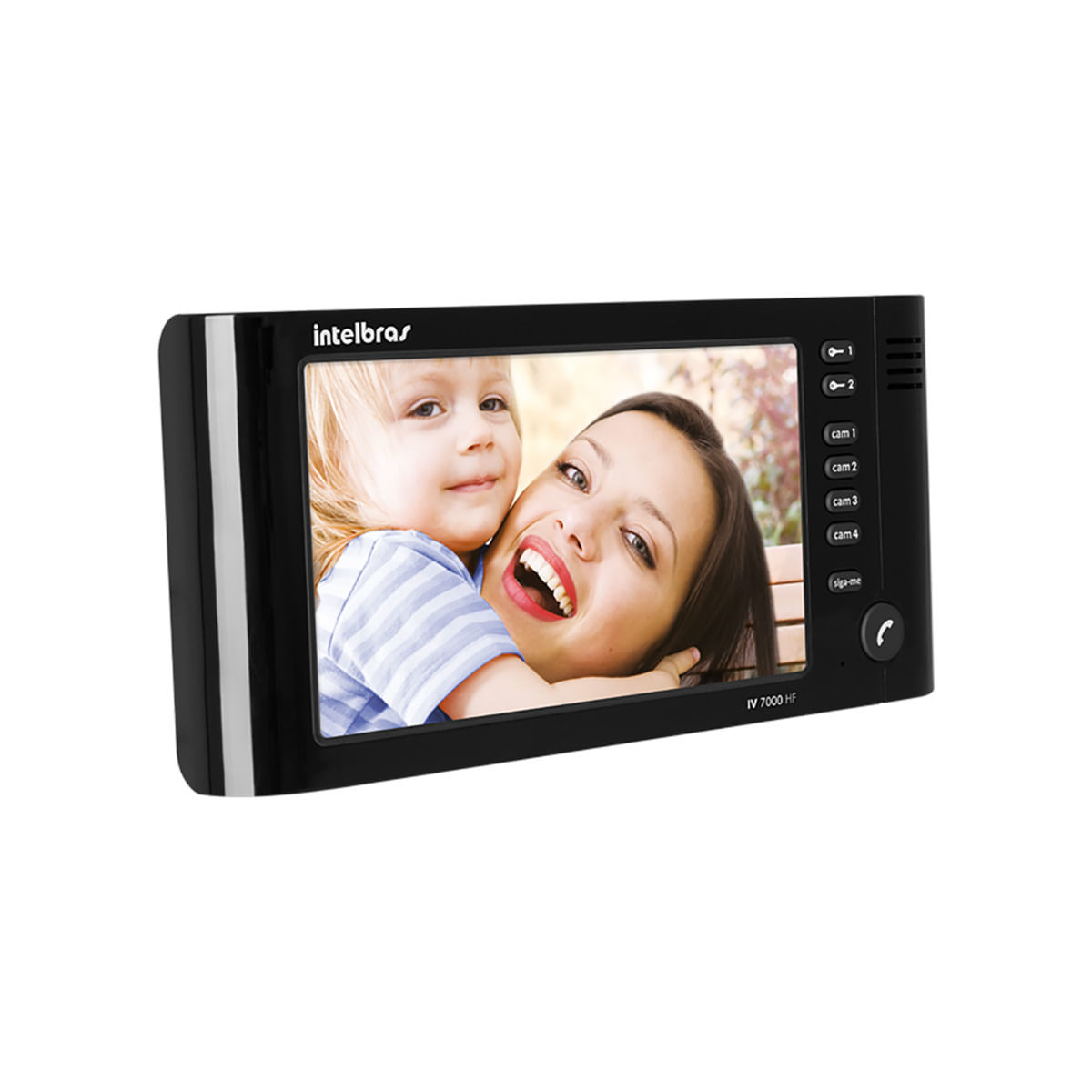 Módulo Interno Vídeo Porteiro Intelbras IV 7000 HF Preto