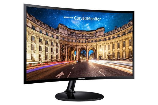Monitor Curvo Samsung FHD LC27F390, HDMI, VGA, Freesync, Preto série CF390