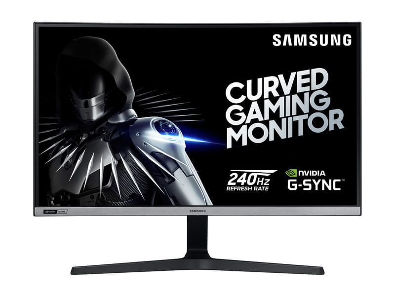 "Monitor Gamer Curvo Samsung 27"", FHD, 240 Hz,HDMI, DP, Gsync, Preto e Cinza, Série CRG50"