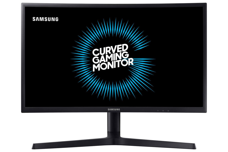 Monitor Gamer Curvo Samsung FHD LC27FG73, 144Hz, 1ms, HDMI, DP, Freesync, com ajuste de altura, preto série CFG73