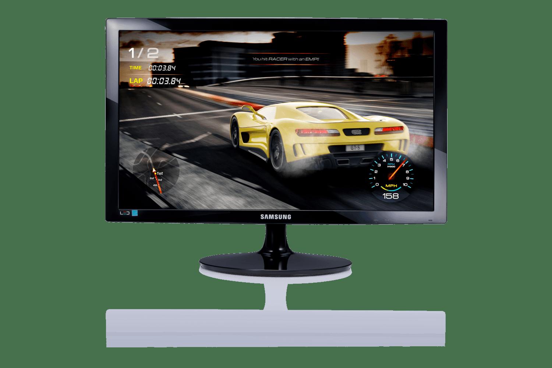 Monitor Gamer Samsung FHD LS24D332, 1ms, HDMI, VGA, Preto, Série SD332
