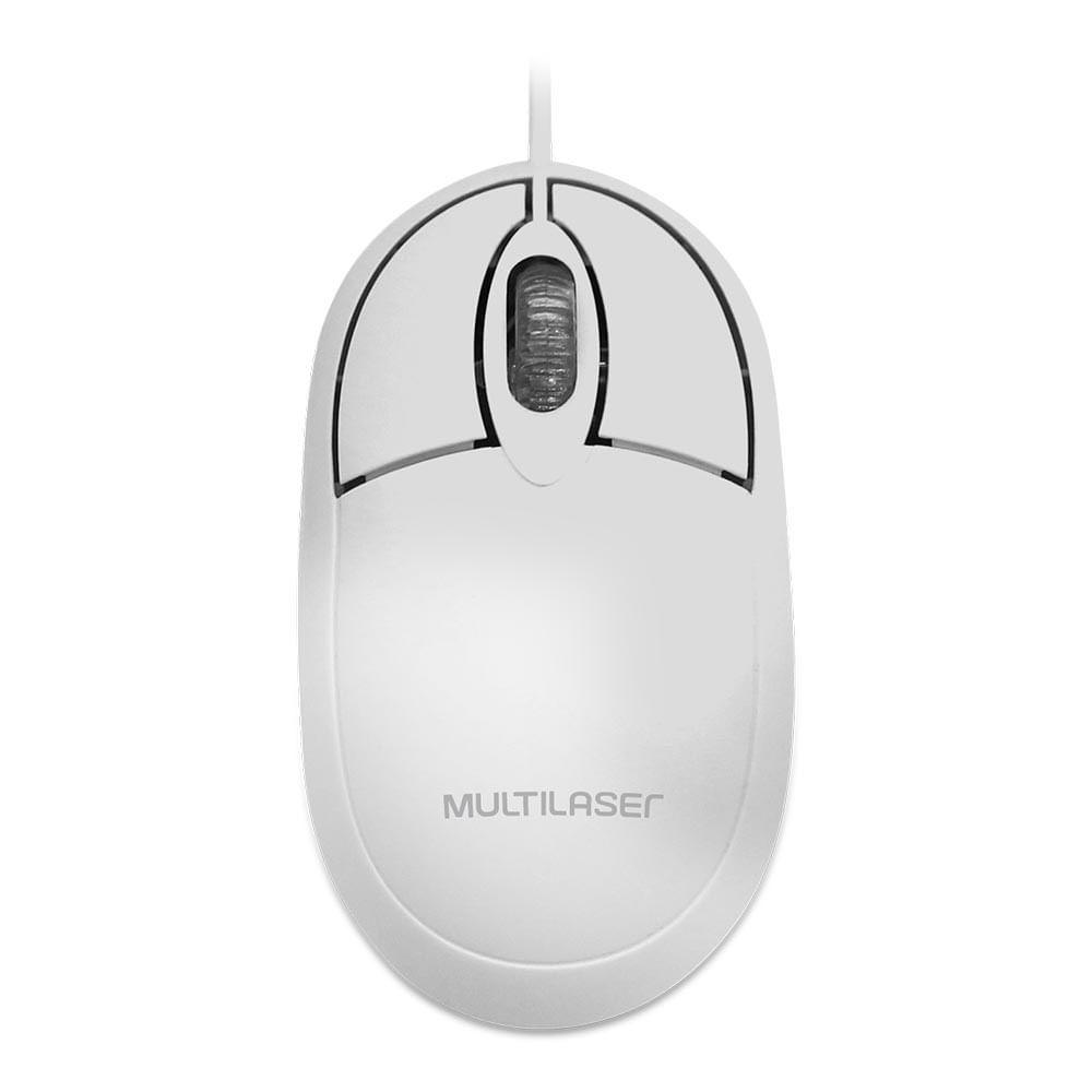 Mouse Classic Box Óptico 1200 dpi Full Branco USB - MO302