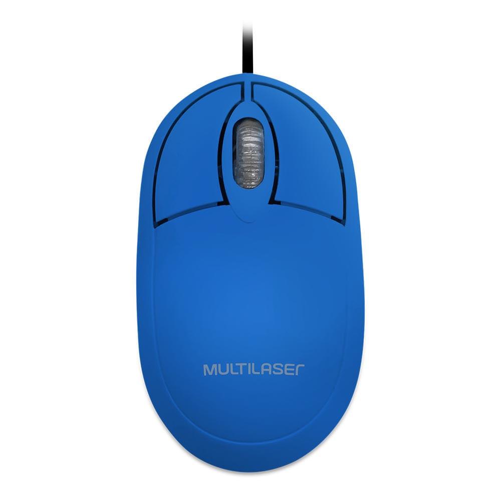 Mouse Classic Box Óptico 1200 dpi Full Azul USB - MO305