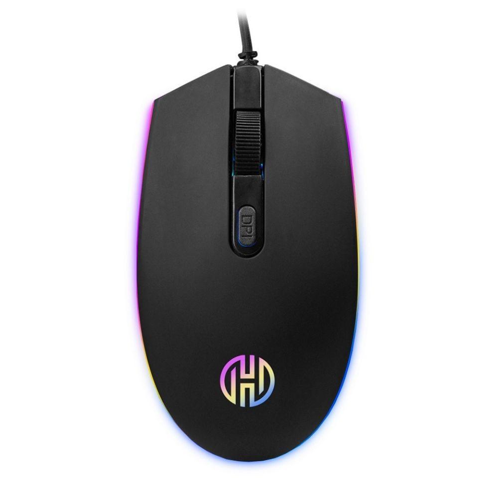 Mouse Gamer Black Bird Hoopson Iluminação RGB GT1200