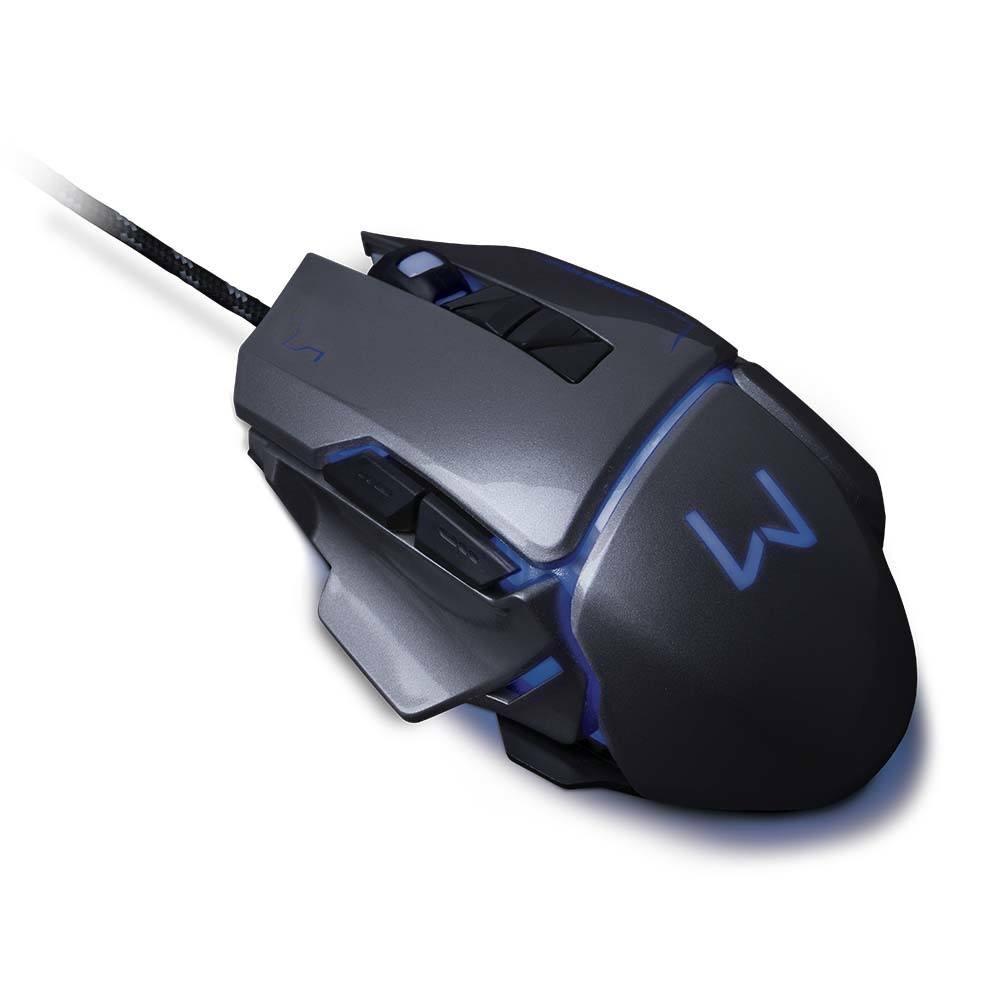 Mouse Gamer Warrior Ivor 3200DPI 7 Botões Controle DPI Grafite - MO262