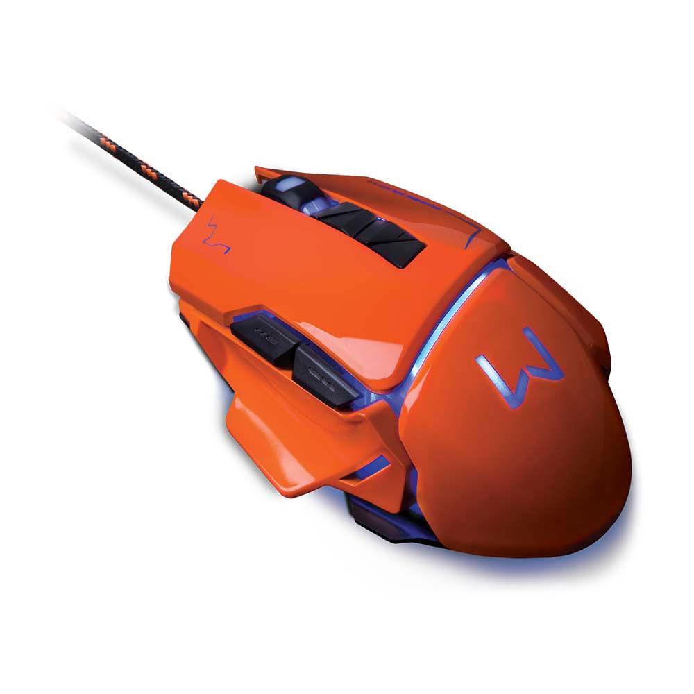 Mouse Gamer Warrior Ivor 3200DPI 7 Botões Controle DPI Laranja - MO263