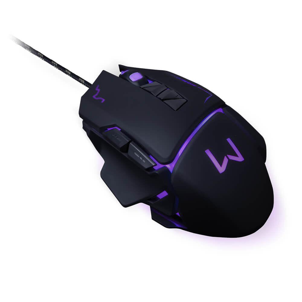 Mouse Gamer Warrior Ivor 3200DPI 7 Botões Controle DPI Preto - MO261