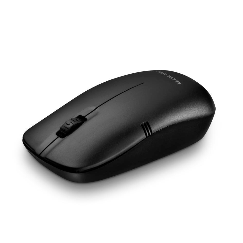 Mouse Sem Fio 2.4GHZ 1200 DPI Usb Preto - MO285