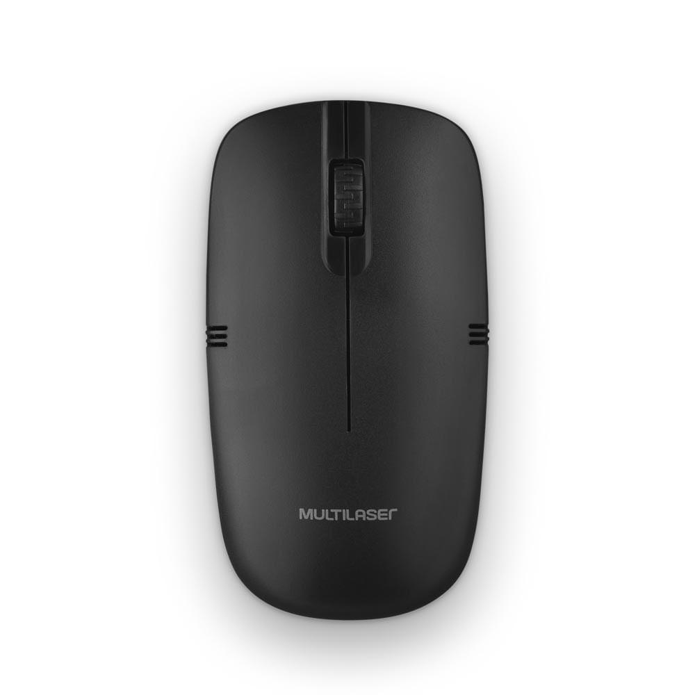 Mouse Sem Fio Lite 2.4GHZ 1200DPI Usb Preto Multilaser - MO285
