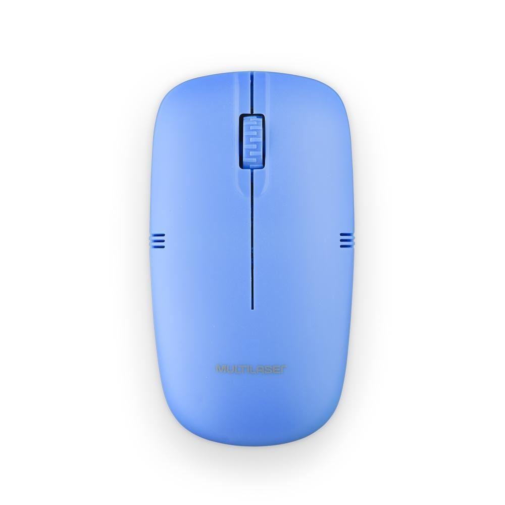 Mouse Sem Fio Lite 2.4GHZ 1200 DPI Usb Azul - MO288