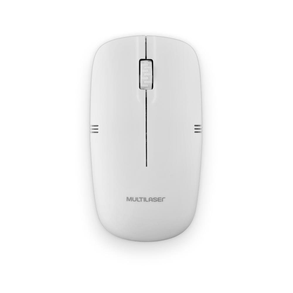 Mouse Sem Fio Lite 2.4GHZ 1200 DPI Usb Branco- MO286