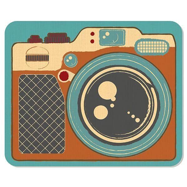 Mousepad Câmera Retrô