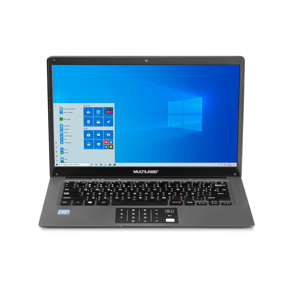 Notebook Legacy Cloud, com Windows 10 Home, Processador Intel Quadcore, Memoria 2GB 32GB, Tela 14,1 Pol. HD, Cinza - PC131OUT [Reembalado]