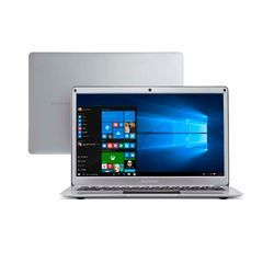 Notebook Multilaser Legacy Air Intel Celeron 4GB capac. de até 152GB (32GB+120SSD) 13.3 Pol Full HD Win 10 Prata  - PC240