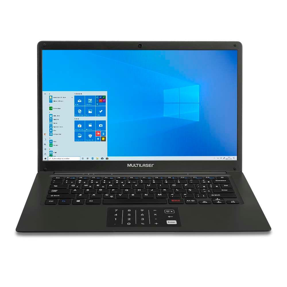 Notebook Multilaser Legacy Book, com Windows 10 Home, Processador Intel Pentium Quad Core, 4GB 64GB, 14,1 Pol. Preto - PC310OUT [Reembalado]