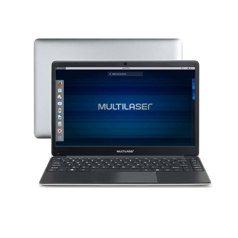 Notebook Multilaser Legacy Book Intel Celeron 4GB 500GB 14.1 Pol. HD Linux Cinza - PC231