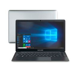 Notebook Multilaser Legacy Book Intel Celeron 4GB capac. de até 152GB (32GB+120SSD) 14.1 Pol. HD Win 10 Prata/Preto - PC237