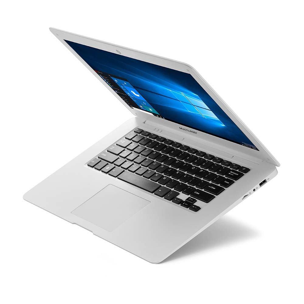 Notebook Multilaser Legacy Cloud Intel Quad Core 2GB 32GB 14 Pol. HD Windows 10 Branco - PC102