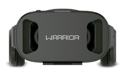 Óculos Warrior Realidade Virtual 3D Gamer Hedeon com Fone de Ouvido Preto - JS086