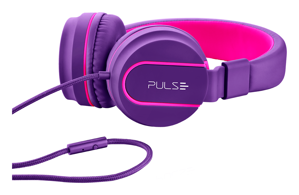 Over Ear Wired Stereo Áudio Roxo - PH161