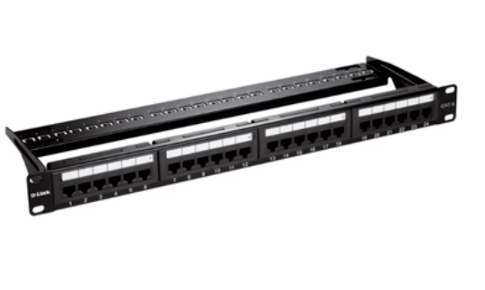 Patch Panel Cat 6 com 24 portas STP protegido