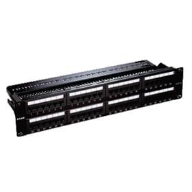 Patch Panel Cat 6 com 48 portas UTP totalmente carregado