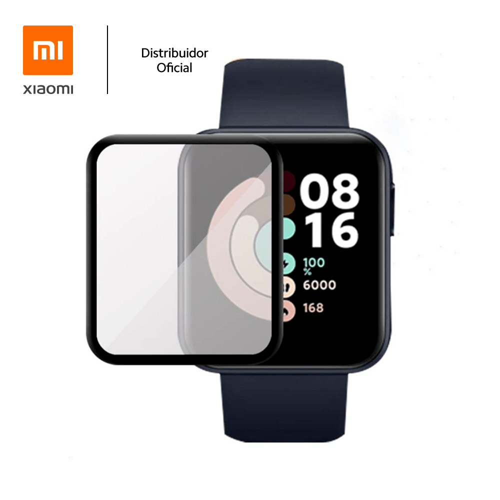 Película De Gel Full Cover Xiaomi Para Smartwatch Mi Watch Lite, Transparente