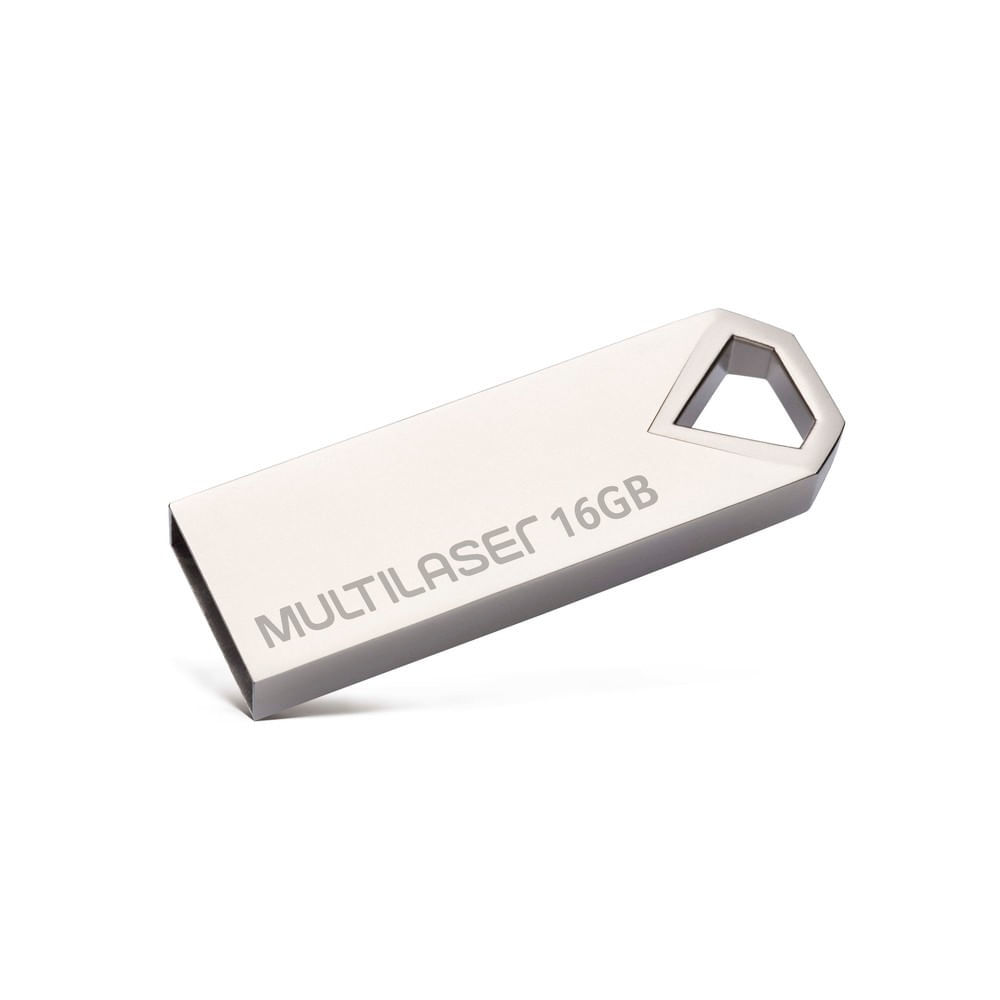 Pen drive Multilaser Diamond 16GB USB 2.0 Metálico - PD850