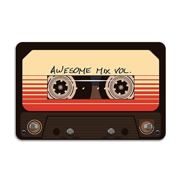 Porta Chaves Awesome Mixtape com 4 Pinos para Chaves