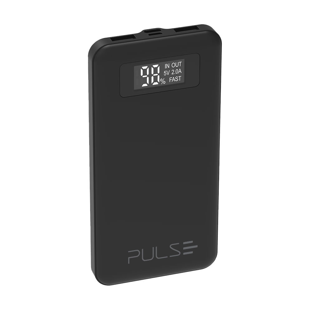 Power Bank 10000 Mah com Display Lcd Pulse - CB147