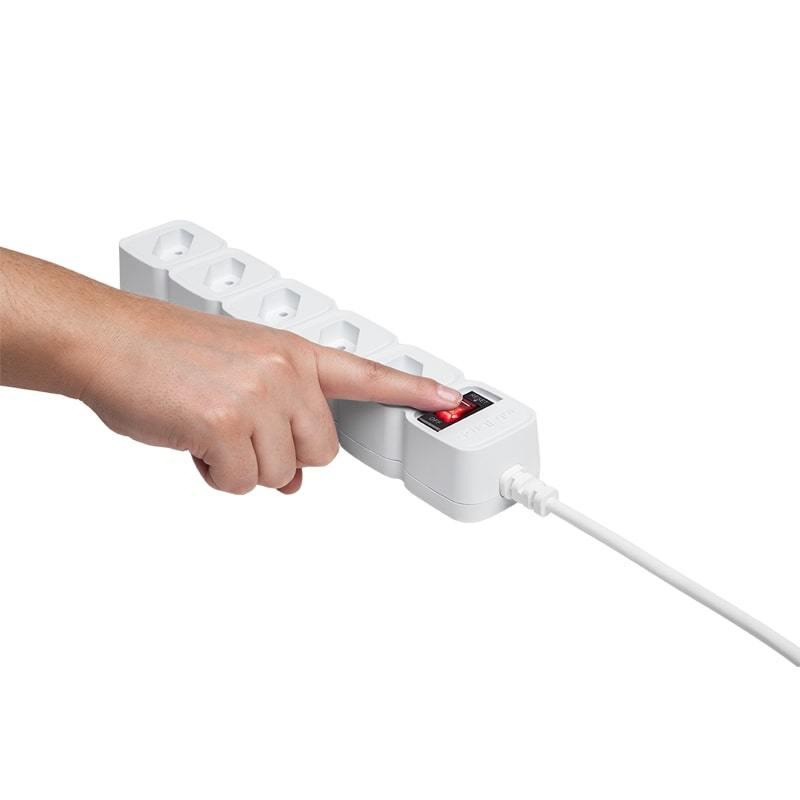 Protetor Eletrônico Intelbras com 5 Tomadas - EPE 205 BR