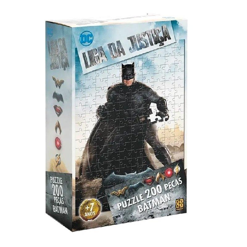 Puzzle 200 peças Batman Liga da Justiça - Grow