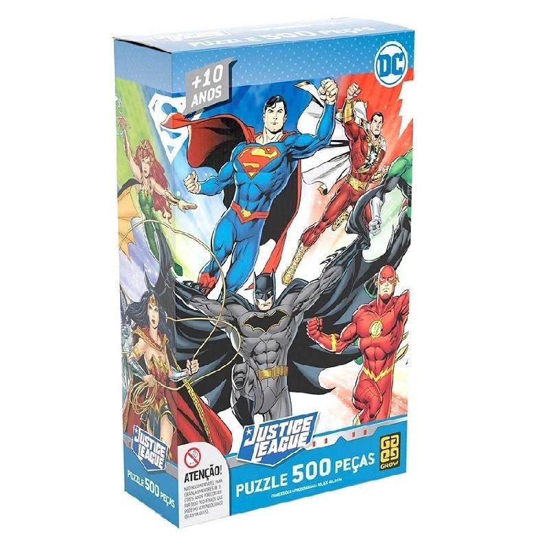 Puzzle 500 peças  Liga da Justiça - Grow