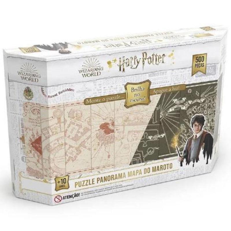 Quebra-Cabeça Panorama Harry Potter Grow 500 Peças Brilha no Escuro
