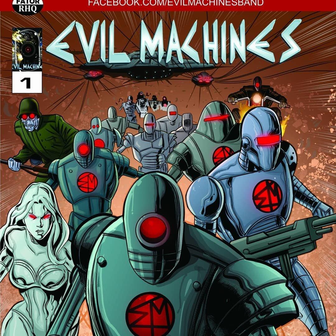 Revista em quadrinhos autoral Evil Machines