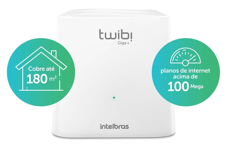 Roteador Mesh Twibi Giga+ Intelbras