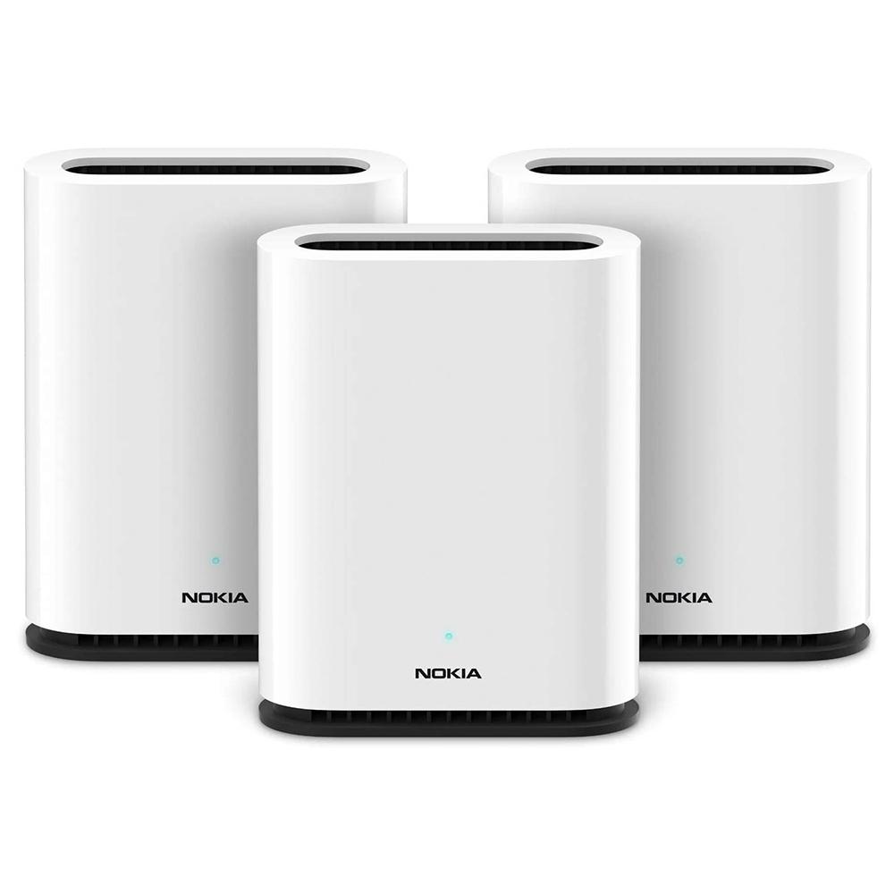 Roteador Wi-Fi Mesh Nokia Beacon 1 com 3 unidades