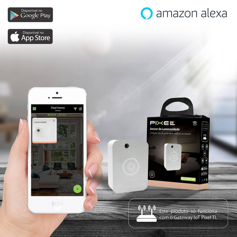 Sensor de Luminosidade Pixel TI C002SLUX - Compatível com Alexa - Smart Home