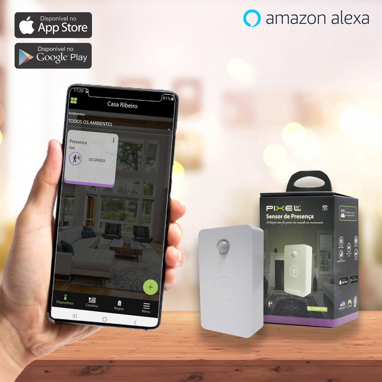 Sensor de Presença Pixel TI C003SPRS - Compatível com Alexa - Smart Home