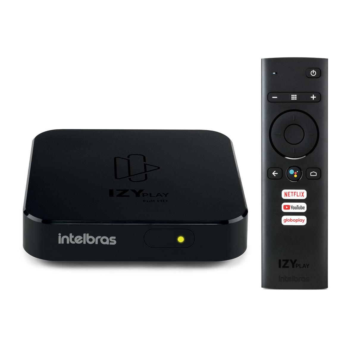 Smart Box Android TV Intelbras IZY Play com Globoplay