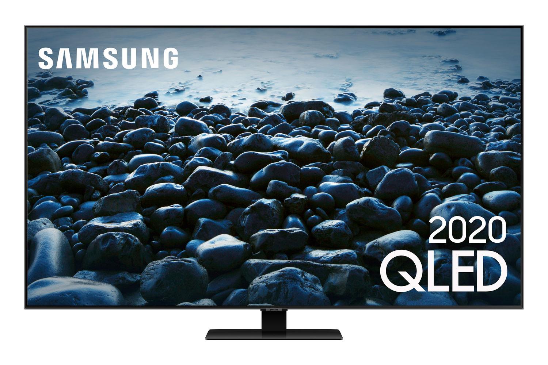 Samsung Smart TV QLED 4K Q80T, Pontos Quânticos, Modo Game, Som em Movimento, Alexa built in, Design sem Limites, Modo Ambiente 3.0, Controle Único