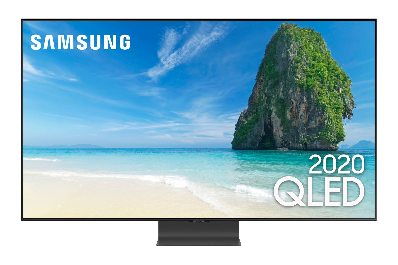 Samsung Smart TV QLED 4K Q95T, Única Conexão e Suporte No-Gap, Pontos Quânticos, Alexa built in, Som em Movimento, Design sem Limites, Modo Ambiente
