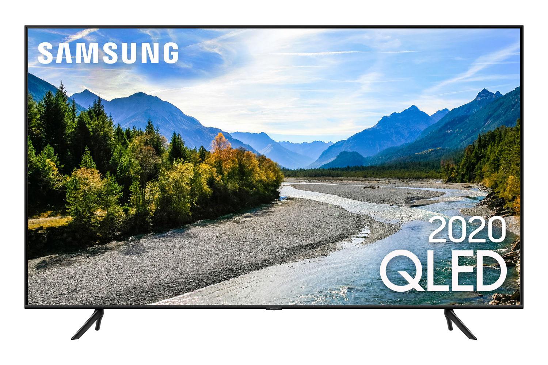 Samsung Smart TV QLED 4K Q60T, Pontos Quânticos, Design sem Limites, Alexa built in, Modo Ambiente Foto, Controle Único, Visual Livre de Cabos
